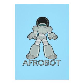 Afrobot - Robot with Afro Card