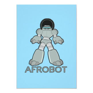 Afrobot - Robot with Afro Invitation