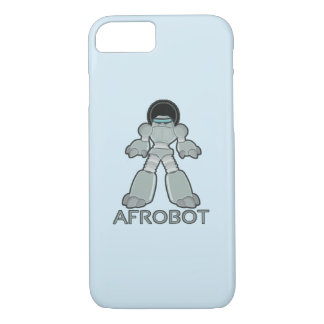 Afrobot - Robot with Afro iPhone 8/7 Case