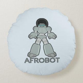 Afrobot - Robot with Afro Round Pillow