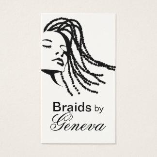Afrocentric Braids Hair Stylist - black Business Card