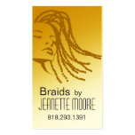 Afrocentric Braids Hair Stylist - yellow Business Card Templates