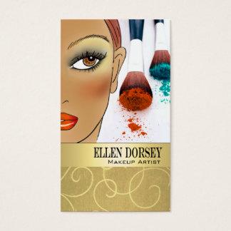 Afrocentric Makeup Artist Illustration Business Card