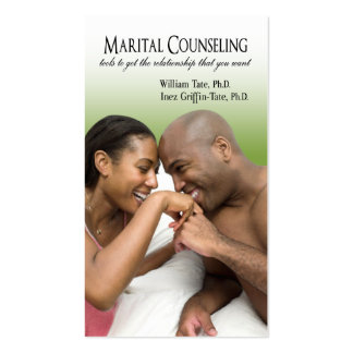Afrocentric - Marital Counseling Couples Therapy Business Card Template