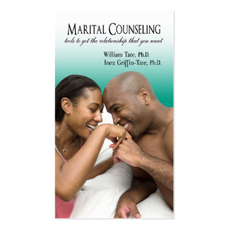 Afrocentric - Marital Counseling Couples Therapy Business Card