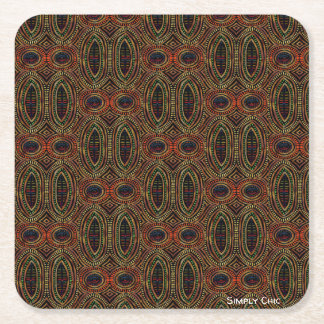 Afrocentric Patterns 1 Square Paper Coaster