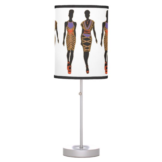 Afrocentric Silhouette Table Lamp