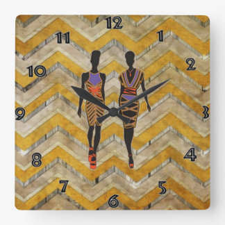 Afrocentric Silhouette Wall Clock