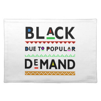 Afrocentric tee placemat
