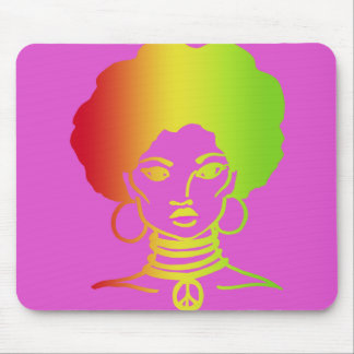 AFROLICOUS PINK MOUSE PAD