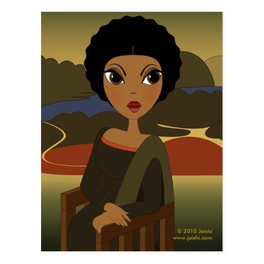 Afro'na Lisa Postcard