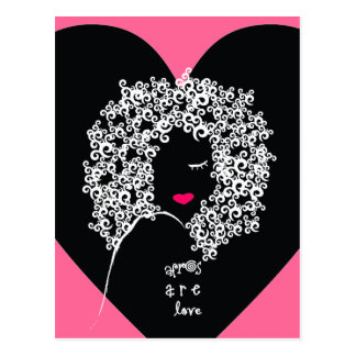 Afros Are Love postcard
