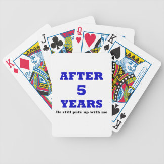After 5 Years He Still Puts up with Me Poker Deck