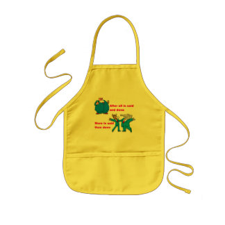 After all is said and done kids apron