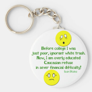 After College Life Basic Round Button Keychain