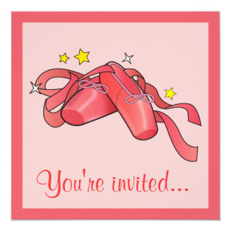 "After Dance Competition Party Invitation 5.25"" Square Invitation Card"