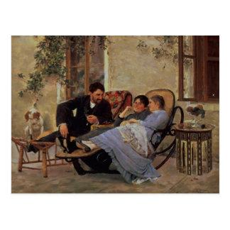After Dinner, 1888 Postcard