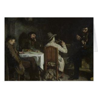 After Dinner at Ornans, 1848 Card