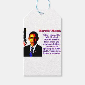 After I Signed The Bill - Barack Obama Gift Tags