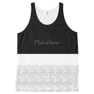 After-Party-Maid-of-Honor-White-Lace-Tank-Top All-Over-Print Tank Top