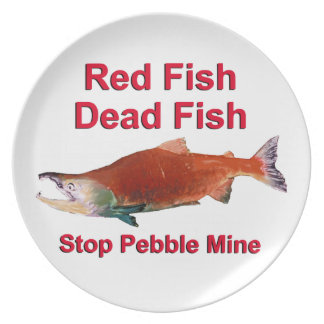 After Salmon - Stop Pebble Mine Dinner Plate