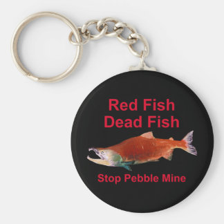 After Salmon - Stop Pebble Mine Keychain