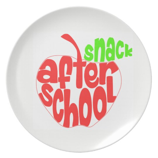 After School Snack Melamine Plate