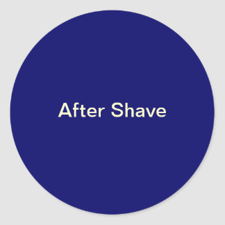 After Shave Labels/ Round Sticker