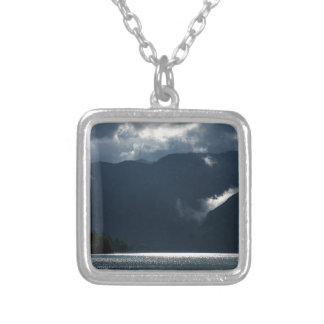 After storm light silver plated necklace