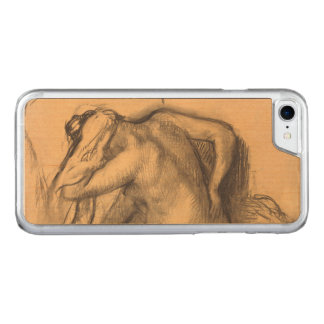 After the Bath Woman Drying Hair Edgar Degas Carved iPhone 8/7 Case