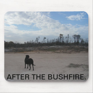 AFTER THE BUSHFIRE  AUSSIE PICTURE MOUSE PAD