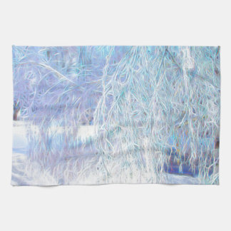 After the Icestorm-Green glow Kitchen Towel