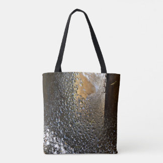 After The Rain Spider Web Abstract Art Tote Bag