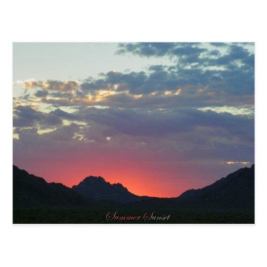 After The Rain Sunset Postcard