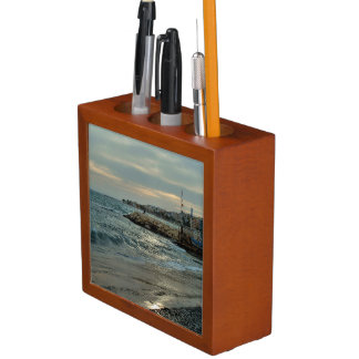 After the storm in the port of Villajoyosa Desk Organizer