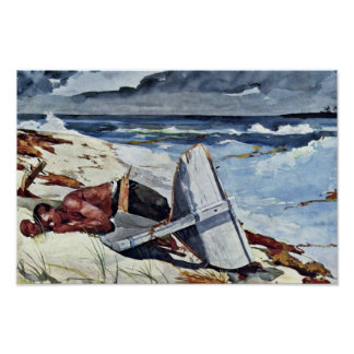 After The Tornado By Homer Winslow (Best Quality) Posters