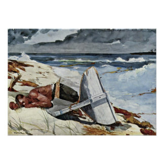 After the Tornado by Winslow Homer Poster