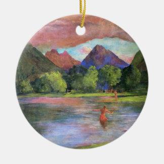 'Afterglow, Tautira River, Tahiti'- John LaFarge Ceramic Ornament
