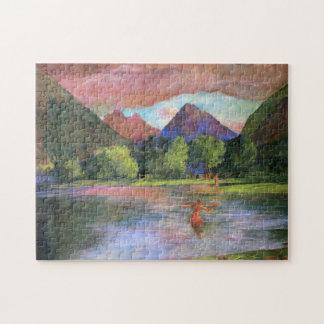 'Afterglow, Tautira River, Tahiti' - John LaFarge Jigsaw Puzzle
