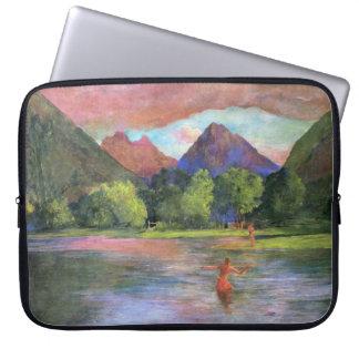 'Afterglow, Tautira River, Tahiti' - John LaFarge Laptop Sleeve