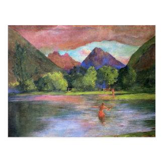 'Afterglow, Tautira River, Tahiti' - John LaFarge Postcard