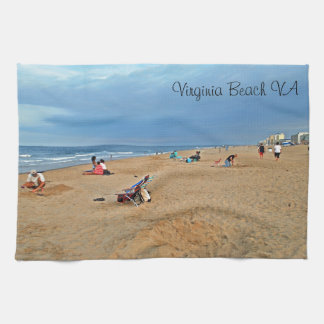 Afternoon Beach Fun Kitchen Towel