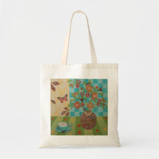Afternoon Coffee Floral Tote