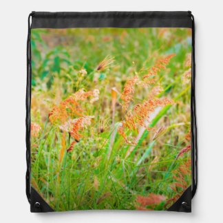 Afternoon Floral Scene Photo Drawstring Bag