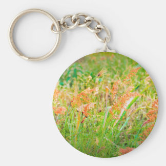 Afternoon Floral Scene Photo Keychain