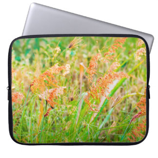 Afternoon Floral Scene Photo Laptop Sleeve