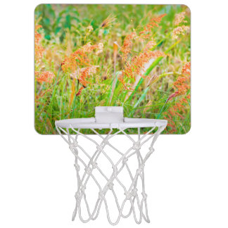 Afternoon Floral Scene Photo Mini Basketball Hoop