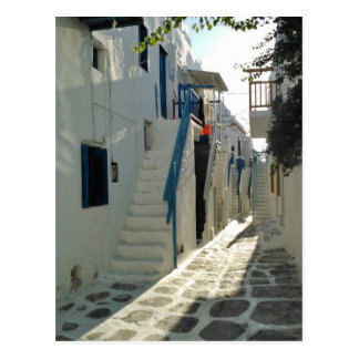 Afternoon in Mykonos Postcard