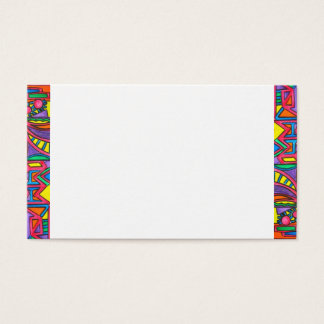 Afternoon Light-Bold Abstract Borders Business Card
