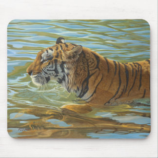 """Afternoon Swim"" Tiger 2 - Mouse Pad"